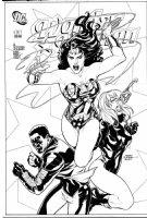 DODSON, TERRY / DODSON - Wonder Woman v.3 #11 cover, WW, Black Canery, Mr Terrific- large size Comic Art