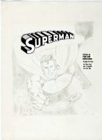 ADAMS, NEAL - Superman Power Records lrg Pencil Cover, Record Album, Superman origin + 3 stories 1978 Comic Art