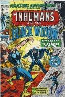 ADAMS, NEAL - Amazing Adventures #8 cover, Inhumans & Black Widow - hand-coloring art, signed Stan Lee Comic Art