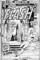 ADAMS, NEAL - Flash #208 cover, Flash races to Nun in church, signed 1971 Comic Art
