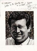 FRIEDMAN, DREW - Ed Wood, Jr. Players Trading Card art: Actor Don Nagel - 1992 Comic Art