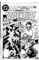 COCKRUM, DAVE - Adventure Comics #467 cover Plastic Man & Woozy Winks (Steve Ditko Star Man panel art recreation) Comic Art