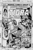 COCKRUM, DAVE - Marvel Premiere #42 cover, Tigra solo story 1978 Comic Art