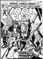 COCKRUM, DAVE - Iron Fist #10 cover, Iron Fist, Misty & Colleen Wing - Daughters of the Dragon 1976 Comic Art