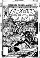 COCKRUM, DAVE - Iron Fist #13 cover, Iron Fist vs Bomberang 1977 Comic Art