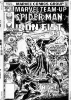 COCKRUM, DAVE - Marvel Team Up #63 cover, Spider-Man & Iron Fist saga concludes + Misty Knight & Colleen Wing - Daughters of the Dragon 1977 Comic Art
