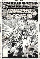 COCKRUM, DAVE - Fantastic Four #203 cover, FF vs evil FF, 1978 Comic Art