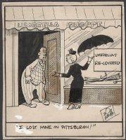 KANE, BOB - Cartoon daily panel, signed - 1930s  Comic Art
