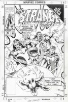 SHERWOOD, GEOF - Dr Strange #46 cover, Doc, Scarlet Witch, Dr Droom / Druid - Infinity War x-over Comic Art