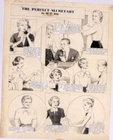 HILL, W.E. - Among Us Mortals Comic Sunday -  Perfect Secretary  - 6/1 1952 Comic Art