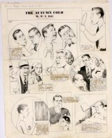 HILL, W.E. - Among Us Mortals Comic Sunday -  The Autumn Cold  - 10/24 1954 Comic Art