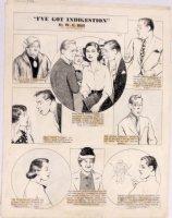 HILL, W.E. - Among Us Mortals Comic Sunday - Men & Woman with Indigestion 11/7 1952 Comic Art