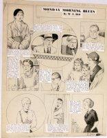 HILL, W.E. - Among Us Mortals Comic Sunday -  Monday Morning Blues  11/7 1952 Comic Art