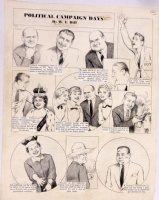 HILL, W.E. - Among Us Mortals Comic Sunday - Political Campaigns  10/31 1954 Comic Art