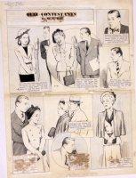 HILL, W.E. - Among Us Mortals Comic Sunday - Radio Quiz 4/2 1949 Comic Art