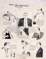 HILL, W E - Among Us Mortals Sunday - Executives  11-14 1954 Comic Art