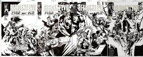 BERMEJO, LEE - Resident Evil: Fire & Ice cover series set #1 #2 #3 #4 DC wrap - covers 2001  Comic Art