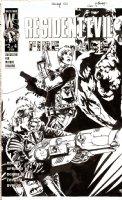 BERMEJO, LEE - Resident Evil: Fire & Ice #2 DC cover 2001  Comic Art