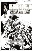 BERMEJO, LEE - Resident Evil: Fire & Ice #1 DC cover 2001  Comic Art