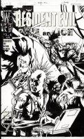 BERMEJO, LEE - Resident Evil: Fire & Ice #3 DC cover 2001  Comic Art