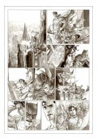 BERMEJO, LEE - Superman & Batman Sunday - DC Wednesday Comics feature, without lettering overlay, 2010 Comic Art