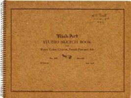EVERETT, BILL - Sketchbook cover (1937-38). Comic Art