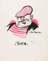 EVERETT, BILL - Sketchbook - color sketch art, Butch cartoon 1937-38 Comic Art
