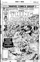 PEREZ, GEORGE / JOE SINNOTT - Marvel 2-In-One #33 cover, FF's Thing, Alicia, & Modred (Spiderwoman story) Comic Art