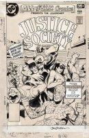 STATON, JOE - All-Star Comics #71 cover, 1st Staton cover- Justice Society / 2nd full Huntress JSA cover 1978 Comic Art