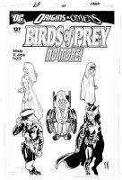 ROUX, STEPHANE - Birds of Prey #127 last Cover! Black Canary, Huntress, Oracle, Lady BlackHawk, Misfit / Batgirl Comic Art