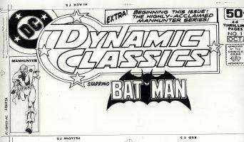 SIMONSON, WALT / DICK GIORDANO - Dynamic Classics starring Batman #1 corner box cover, classic Manhunter 1978 Comic Art