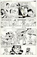 COCKRUM, DAVE - Secret Origins #42 pg 13, Phantom Girl origin, Saturn Girl Lighting Lad Cosmic Boy 1989 Comic Art