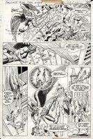 ANDERSON, MURPHY / AL MILGROM - Showcase #102 pg 16, Hawkman vs Adam Strange & Alanna 1978 Comic Art