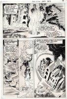 NOVICK, IRV / MURPHY ANDERSON - FLASH #202 pg 4, Flash saving Iris from cult, 3rd Novick issue 1970 Comic Art