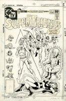 SCHAFFENBERGER, KURT- Super Friends #45 cover, JLA vs Sinestro, Queen Bee & international heroes Comic Art