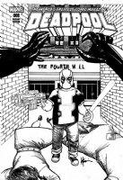 CHAYKIN, HOWARD - Deadpool #8 cover, 1 in 15 Variant - DP origin ala Batman + Sabertooth  Comic Art