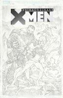 STROMAN, LARRY - Extraordinary X-Men #8 Old Man Logan Variant cover, Wolverine, Storm, Iceman, Colossus  Comic Art