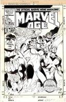 LAYTON, BOB - Marvel Age #39 cover, X-Factor reveal Jean Grey as 5th member, 1984 Comic Art