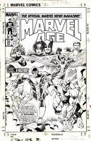 GUICE, BUTCH / BOB LAYTON - Marvel Age #33 cover, GS X-Men #1 homage / X-Men + X-Factor series preview 1984 Comic Art