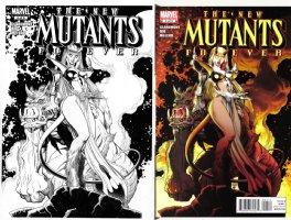 ADAMS, ART - New Mutants Forever #4 cover - Magik & S'ym (Cerebus satire), dated 2003 Comic Art