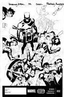 BACHALO, CHRIS / TIM TOWNSEND - Uncanny X-Men #32 cover, Cyclops vs 8 older versions of Cyclops Comic Art