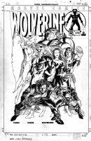 CHEN, SEAN - Wolverine #172 cover, Wolvie & Alpha Flight - poster-style 2002 Comic Art