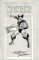 ROMITA SR, JOHN / FRENZ - Wolverine #1 box art w/ logo overlay 1990 Comic Art