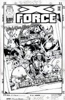 POLLINA, ADAM - X-Force #66 cover, Boomer/ Meltdown, Sunspot Caliban at Disneyland 1997  Comic Art