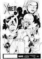DODSON, TERRY - X-Men #21 cover, Marvel Girl, Storm, Jubilee, Psylocke, M  2014 Comic Art
