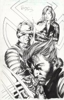 HITCH, BRYAN - X-Men film cover, Wolvie Jean Grey, Cyclops 2000 Comic Art