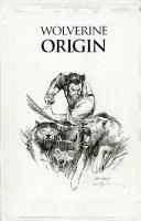 KUBERT, ANDY / BILL SIENKIEWICZ - Wolverine Origin series Statue Art - Wolvie & 3 wolves 2003 Comic Art