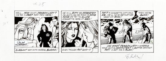 HILDEBRANDT, GREG & TIM - Terry and the Pirates daily, Terry between Dragon Lady & Burma 9/16 1985 Comic Art