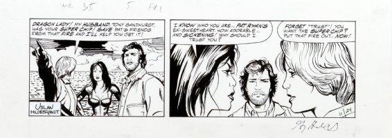 HILDEBRANDT, GREG & TIM - Terry and the Pirates daily, Dragon Lady vs Burma 11/24 1985 Comic Art