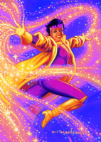 HILDEBRANDT, Greg & Tim - X-Men's Jubilee - Marvel Masterpieces painting 1994 Comic Art